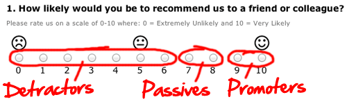 Net Promoter Score customer categories